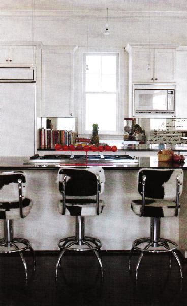 cowhide bar stools transitional kitchen