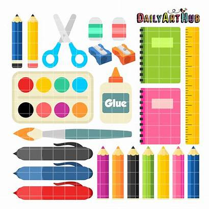 Supplies Clip Clipart Daily Supply Objects Hub