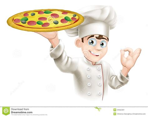 cuisine okay okay sign pizza chef illustration stock image image