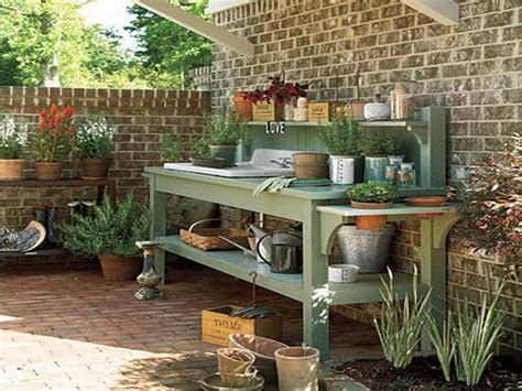 diy potting table with sink gardening landscaping potting bench with sink wood