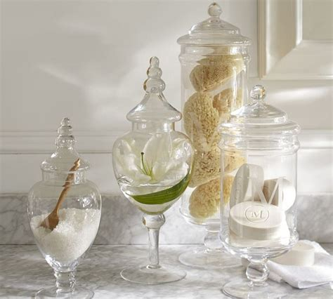 classic glass apothecary jar traditional bathroom