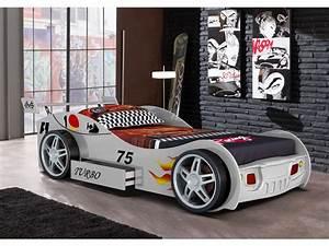 Voiture P : lit voiture runner avec tiroir 90x200 cm blanc ~ Gottalentnigeria.com Avis de Voitures