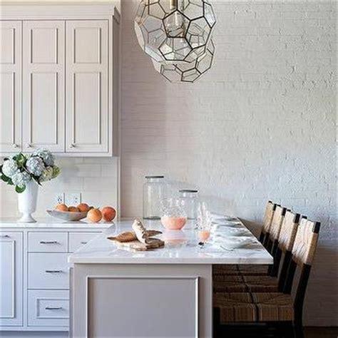 loft kitchen  light gray cabinets transitional kitchen farrow  ball dove tale