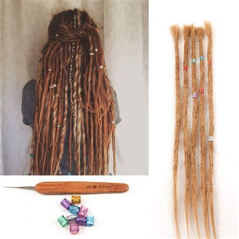 Dsoar Dyed Dreads 27 Light Brown Human Hair Dreadlock