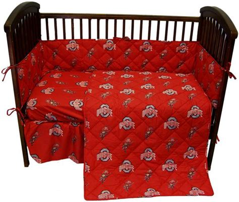 31970 ohio state bed set ohio state 5 baby crib set ohics by college covers