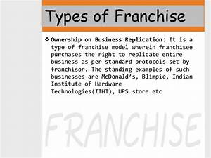 Find all about Franchise, Types of Franchises and Examples ...