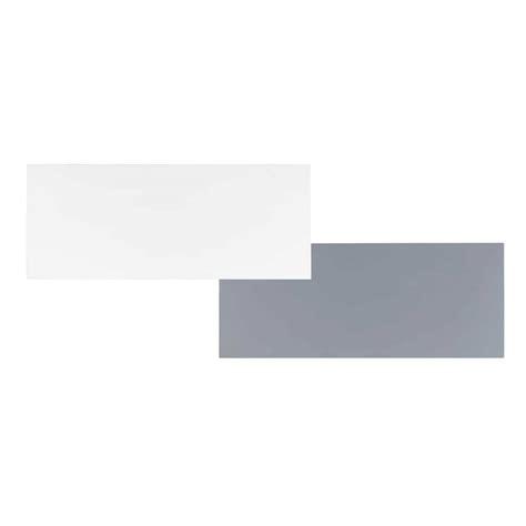 plateau de bureau plateau de bureau réversible blanc gris l 150 cm desk