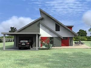 votre maison d39architecte en ossature bois basse With maison bois d architecte
