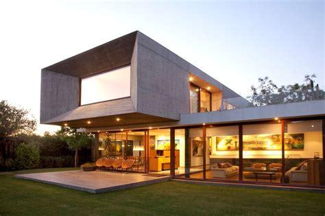 Modern Concrete Home Plans Lighting