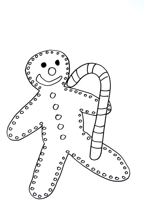 gingerbread man christmas coloring pages  kids  print color
