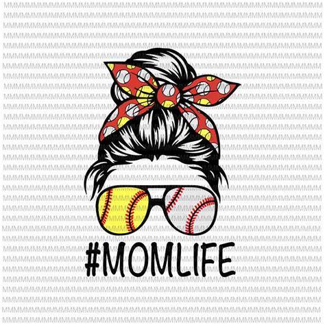 Messy bun dog mom svg. MomLife Svg, Womens Dy Mom Life Softball Baseball Svg ...
