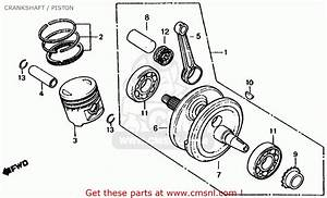 Honda Xl185s 1979  Z  Usa Crankshaft    Piston