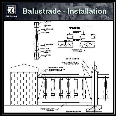 Free CAD Details Balustrade Installation ? CAD Design