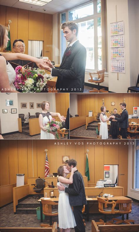 amelia john seattle courthouse wedding seattle area