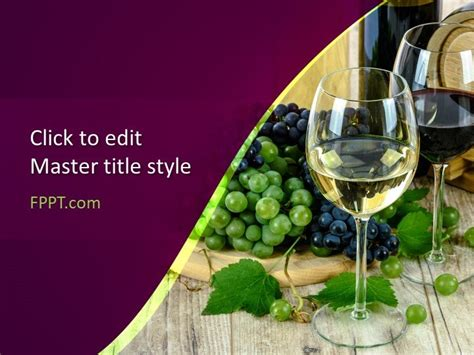 wines powerpoint template