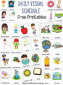 Daily Visual Schedule for Kids Free Printable - Natural