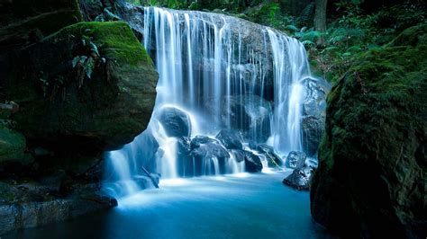 Cool Waterfall Picture by Blue Waterfalls At Hd Nature Wallpapers For Mobile