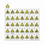 Hazard Warning Signs Symbols Safety Names Vector