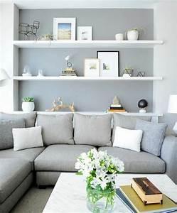 Mur Blanc Et Gris : photo salon gris et blanc ~ Preciouscoupons.com Idées de Décoration