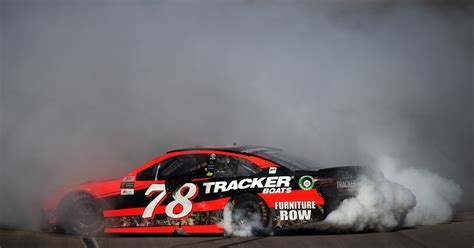 martin truex jr finally lands    side  luck