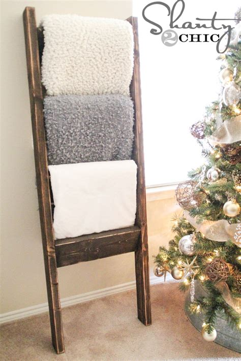 shabby to chic blanket ladder diy blanket ladder just 12 for this super easy wooden ladder