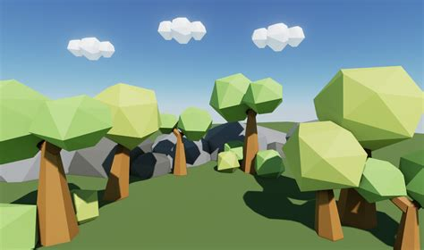 Low Poly Worlds  A Good Way To Learn Blender And Ue4