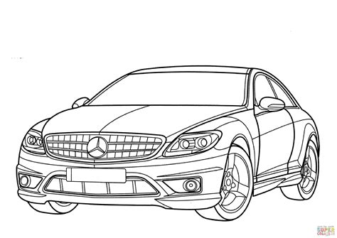 Mercedes-benz Cl-class Coloring Page