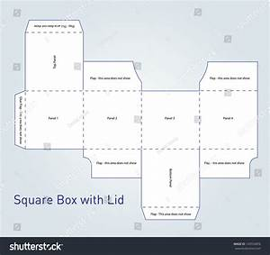 Vector Packaging Box Template With Lid