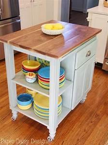 Diy, Kitchen, Island, Cart