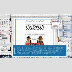 How To Make Text Look Like The Lego Logo Using Gimp  Persia Lou