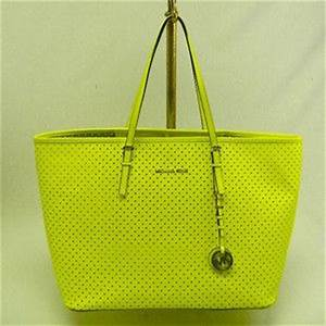 Image Gallery neon yellow handbag
