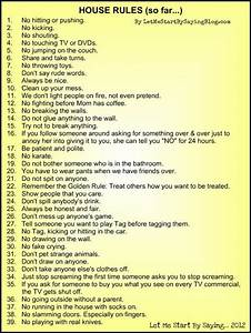 17 best ideas about house rules chart on pinterest house With house rules chart template