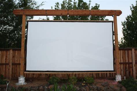 frame  screen backyard theater forums outdoor