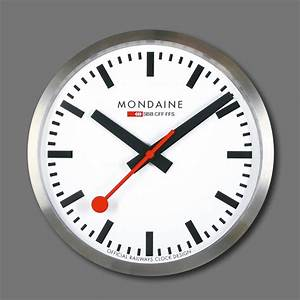 This extra large wall clock, the Mondaine, is certainly ...