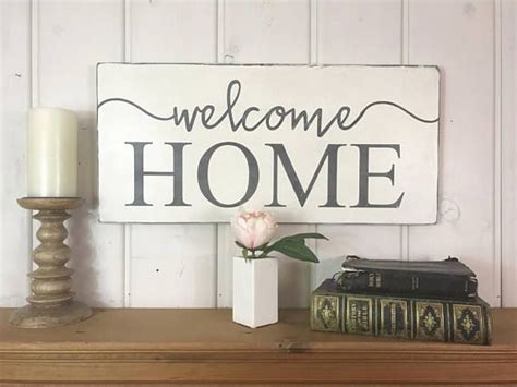 Welcome Home Sign Rustic Wood Sign Home Sweet Home Home Decorators Catalog Best Ideas of Home Decor and Design [homedecoratorscatalog.us]