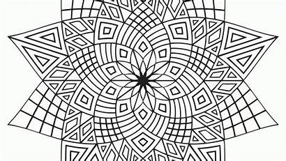 Coloring Pages Geometric Adult Popular