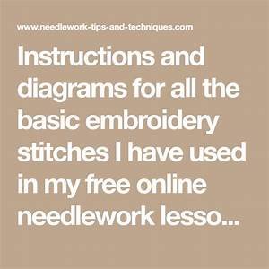 Instructions And Diagrams For All The Basic Embroidery