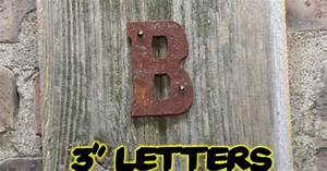 3 rusty flat letters rustic metal letters wall art With rusty metal letters wholesale