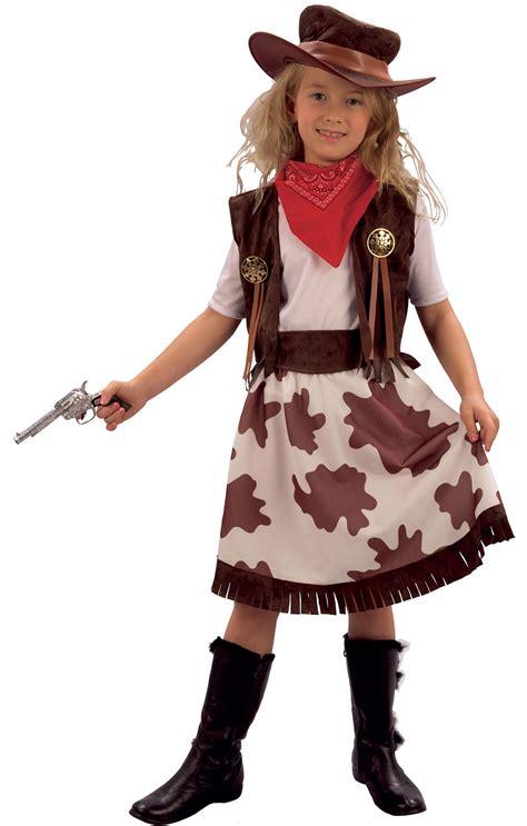 Cowgirl Childs Fancy Dress Kids Wild Western Girls Costume Outfit + Cowboy Hat   eBay