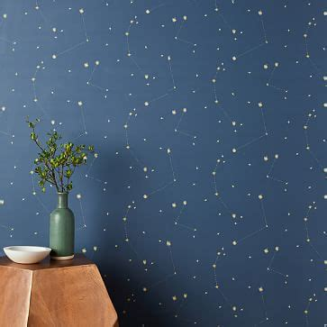 chasing paper constellation map wallpaper navy west elm