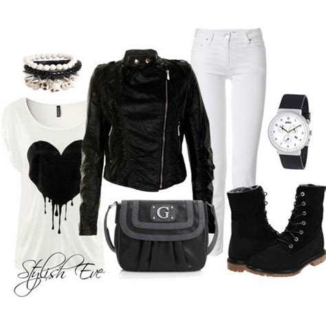 Black and White Winter 2013 Outfits for Women by Stylish Eve | Stylish Eve