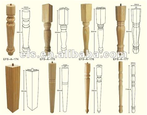 hot sale cheap pine wood dining table legs efs