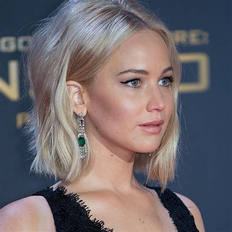 Jennifer Lawrence White Blonde Hair 2015