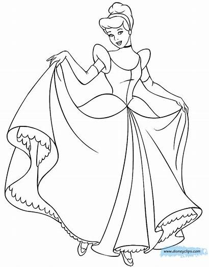 Cinderella Coloring Pages Disney Disneyclips Funstuff