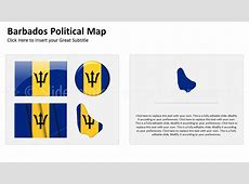 Barbados Political Map PowerPoint SlidePoints