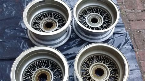 Sold!!!  For Sale  Original Ford Gt40 Wire Wheels By Borrani