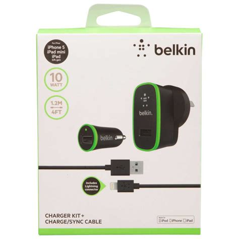 Charger Kit by Belkin Charger Kit With Lightning To Usb Cable Big W