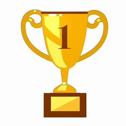 Trophy Clipart Number Prize Podium Trophies Winner