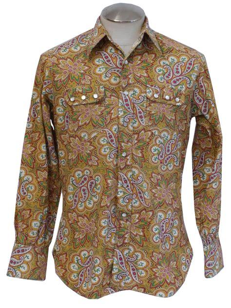 vintage  western shirt late   label mens gold