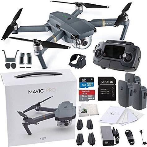 dji mavic pro collapsible quadcopter drone ultimate bundle  remote controller intelligent